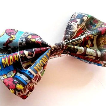 Iron Man Small Hair Bow