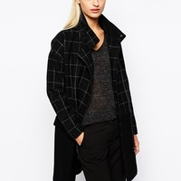 Y.A.S Block Coat with Check Panel