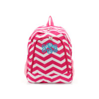 ON SALE- Hot Pink and White Chevron Print 17 Inch Backpack With Free Monogramming