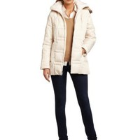 Jones New York Women`s Faux Fur Hooded Down Coat