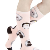 ModCloth Cats I Can See Clearly Meow Socks