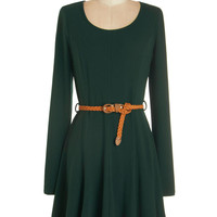 ModCloth Mid-length Long Sleeve A-line Any and Every Occasion Dress