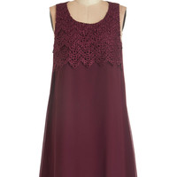 ModCloth Mid-length Sleeveless Shift In the Mood for Lovely Dress