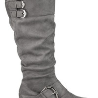 gray Vicki metallic buckle boot