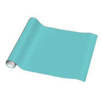Teal Sky Colored Gift Wrap