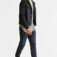 The Narrows Suede-Sleeve Hooded Trucker Jacket - Urban Outfitters