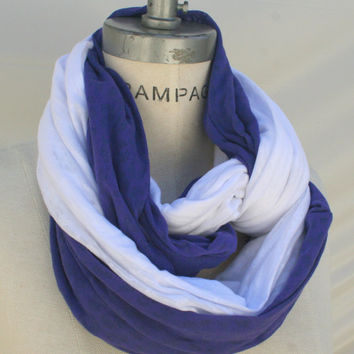 cowl Scarf Purple White Scarf  Women Accessories Gifts for Mom Pretty Scarf   - By PiYOYO