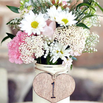 One Pint Size Shabby Chic Painted and Distressed Mason Jar - color of your choice