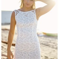 Summer- Wear this beautiful white lace dress for a classy summer loo