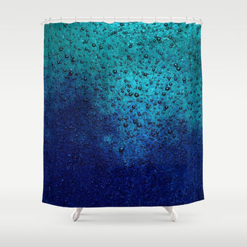 Sea Green Blue Texture Shower Curtain by RichCaspian | Society6