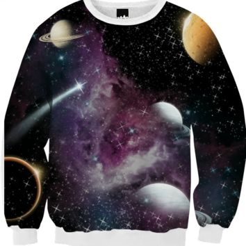 Galaxy / crewneck created by duckyb | Print All Over Me