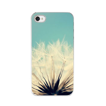 "In Stock Sale - iPhone 4&4s Case - Dandelion Against Blue Sky - Fine Art Nature Photography - ""She's a Firecracker"""