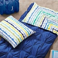 Pintuck Sleeping Bag + Pillowcase, Bubble Stripe