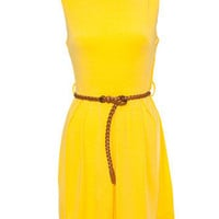 AX Paris Yellow Skater Dress from just £20.00 - New In from Republic: great styles and great prices.