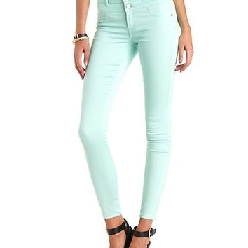 "Refuge ""Hi-Waist Super Skinny"" Colored Jeans - Mint"