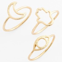 Topshop Cutout Rings (Set of 3)