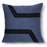 Nate Berkus™ Navy Velvet Applique Pillow