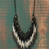 Free People Ombre Seed Bead Collar