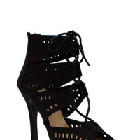 Film Strip Cut Out Booties GoJane.com