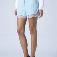 LACE TRIM RUNNER SHORTS