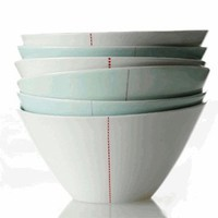 ANNE BLACK TILT PORCELAIN BOWLS