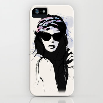 Infatuation - Digital Fashion Illustration iPhone & iPod Case by Allison Reich