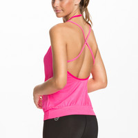 HOT STUFF STRAPPY TANK - pink training top from CASALL