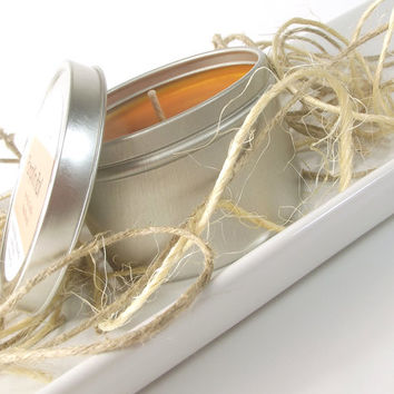 Pumpkin Roll scented Soy Candle Tin All Natural Soy Candle