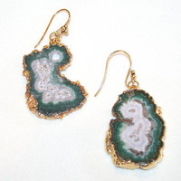 agate slice earring, by Ethereal Jewelry - the p e r f e c t pair