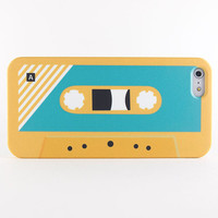 Retro cassette tape iPhone case, iPhone 5s case, iPhone 5 case, iPhone 5C case - Yellow & Blue