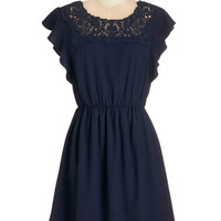 ModCloth Mid-length Cap Sleeves A-line Flit Must Have Been Love Dress