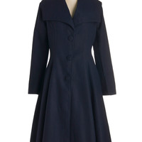 ModCloth Vintage Inspired Long Long Sleeve Intrigue All About It Coat