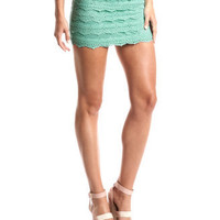 Tiered Crochet Mini Skirt