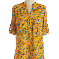 Quince There Was You Tunic | Mod Retro Vintage Short Sleeve Shirts | ModCloth.com