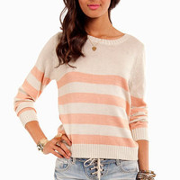 Striped Down Sweater ~ TOBI