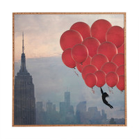 Maybe Sparrow Photography Floating Over The City Framed Wall Art