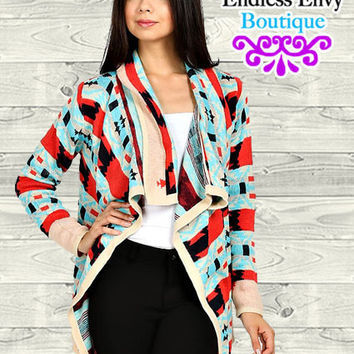 Aztec Tribal Emily Cardigan