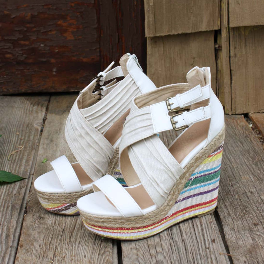 Backroads Wedges, Sweet Country Inspired Shoes
