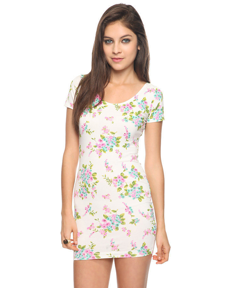Bow Back Floral Dress