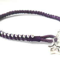 Silver chain Friendship Bracelet stackables  trendy Metallic summer 2012 beach fun accessories