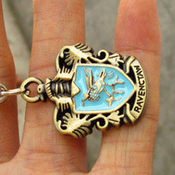 Harry Potter ravenclaw  House Crest Locket keychain------SALE