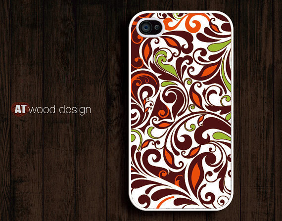 illustration red green flowers design iphone 4 case iphone 4s case iphone 4 cover unique case