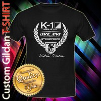 Alistair Overeem K-1 Dreams Strike Force Custom Black T-Shirt