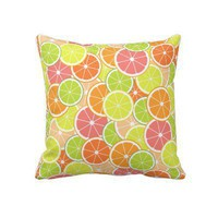 Fun Citrus Throw Pillows from Zazzle.com