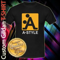 New Shirt Design A-Style Logo Custom Black T-Shirt