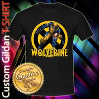 X Men Wolverine Custom Black T-Shirt Size S-2XL