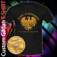 New a Day to Remember Hard Core Band Logo Custom Black T-Shirt