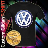 Volkswagen VW Cars Logo Custom Black T-Shirt Size S-2XL