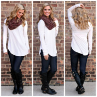 The Perfect Long-Sleeved Tunic - Ivory