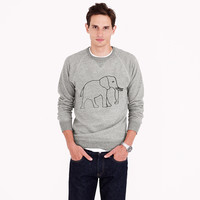 MEN'S J.CREW FOR DAVID SHELDRICK WILDLIFE TRUST ELEPHANT SWEATSHIRT